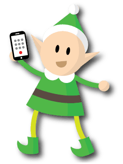 Image: Content Elf with a phone in hand